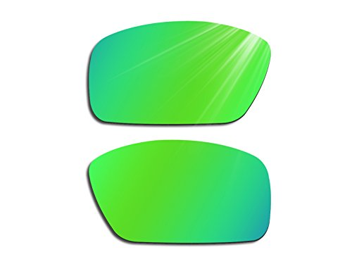 Glintbay Harden Coated Replacement Lenses for Costa Del Mar Fantail - Polarized Green - Coated Sunglasses Mirror
