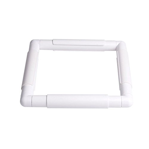 WElinks Embroidery Sewing Hoop Embroidery Plastic Frame Sewing Tools Handhold Square Rectangle Shape Hoop Cross Stitch Craft DIY Tool Embroidery Frame Cross Stitch Hoop Stand Lap Tool Lap Stitch Frame