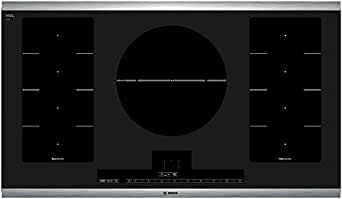 "Bosch NITP666SUC: 36"" Induction Cooktop Benchmark Series - Black with Stainless Steel Frame"