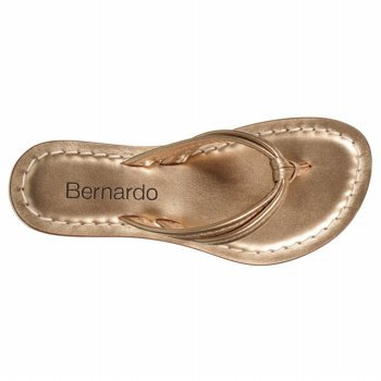 Bernardo Womens Miami Nuovo Blush Sandalo Metallico Perizoma