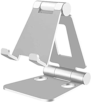 isopeen Creative Aluminum Mobile Phone Bracket Holder Tablet Desktop Foldable Stand Holder