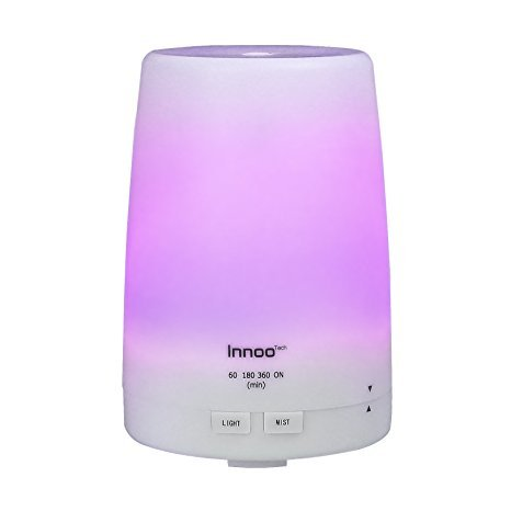 Innoo Tech Essential Oil Diffuser 300ml | The 3rd Version Aromatherapy Diffuser & Humidifier Cool Mist | Long Lasting with 4 Timer Settings & 7 Color LED Lights for Bedroom, SPA, Office (Essex Whole House Humidifier compare prices)