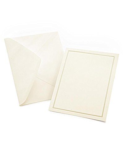 Pearl Foil Border Print at Home All-Purpose Cards