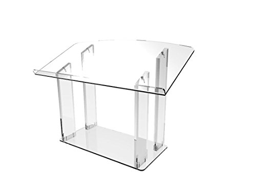 FixtureDisplays Tabletop Acrylic Plexiglass Podium Pulpit Lectern Clear Lucite -