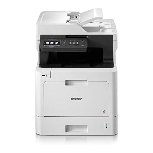 chollos oferta descuentos barato Brother DCP L8410CDW Impresora multifunción láser Color Profesional 3 en 1 impresión Copia y escaneado Alta Velocidad WiFi impresión a Doble Cara LCD Blanco