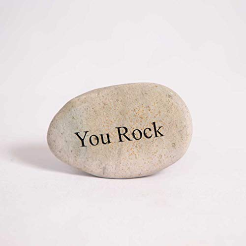 Garden Age Supply You Rock Engraved Stone Inspirational Sandblast, Perfect Gorgeous Unique Gift Ideas, Your Rock Stone, Natural Beach Pebble Rock, ...