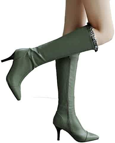 ae3a89b3d54 Athli Women s Fashion Knee High Casual Riding Boot (Available in Wide Calf)