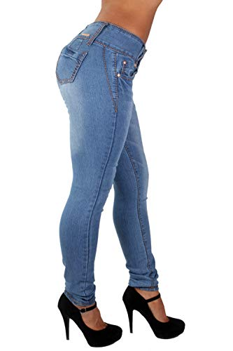 G154 – Colombian Design Mid Waist Butt Lift Plus / Junior Size Skinny Jeans