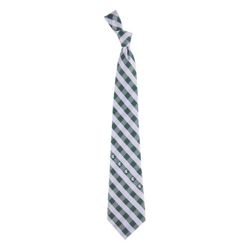 Michigan State Check Poly Necktie