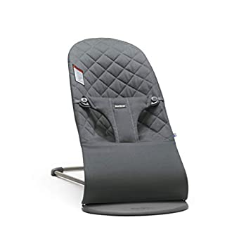 Image of BABYBJÖRN Bouncer Bliss, Quilted Cotton, Anthracite Baby