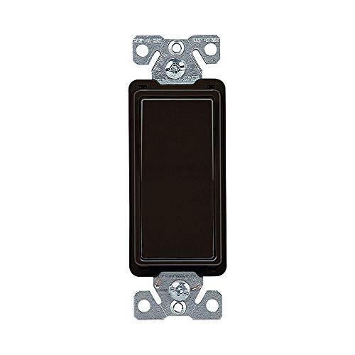 Eaton 7504BK 15 Amp 4-Way Rocker Decorator Switch, Black