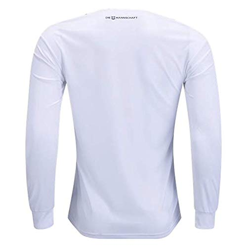 adidas Men's Soccer Germany Home Long Sleeve Jersey (XL) White,Black