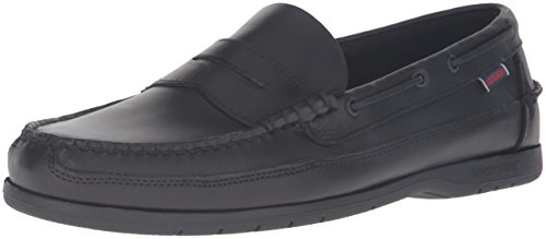 lip-On Loafer, Black Oiled Waxy, 11 M US (Sebago Mens Slip)