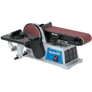 DELTA SM500 Shopmaster 5.2 Amp 4- by 6-Inch Benchtop Belt/Disc Sander - Power Combination Disc ...