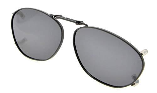 de polarizado gafas Eyekepper Marco 51x33MM borde clip de Gris sol metal en lente fx6w4aw