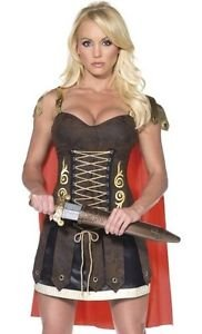 LanLan Sexy Roman Gladiator Warrior Princess Halloween Costume (Halloween Gladiator Accessories)