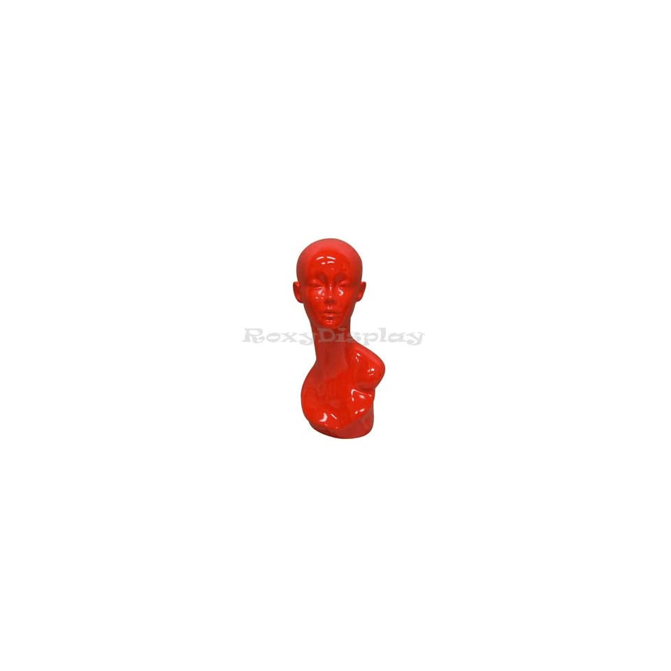 (MD TinaRed) Female Mannequin Head Glossy Red Eligant Edition