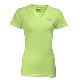 Under Armour Women's T-Shirt, HI Vis Yellow/Steel, XS