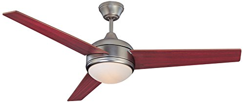Concord 52SKY3ESN Ceiling Fans with Opal Glass Shades, Satin Nickel Finish