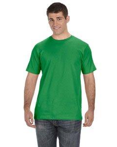 2010 Mens Organic T-shirt - Anvil Mens 5 oz., 100% Organic Cotton T-Shirt - GREEN APPLE - L