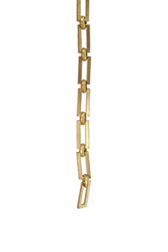 - RCH Hardware CH-01-AD Decorative Acid Dipped Solid Brass Chain for Hanging, Lighting - Rectangular Square Edge and Unwelded Links (1 Foot)