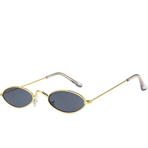 Lente 2018 Guay HD Marcos Gris Gafas hombre de Nuevo Oro Para Moda Oval Gafas el sol Casual Metal wqTB0Hx