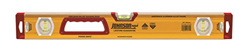 Johnson Level & Tool 1717-2400 Heavy Duty Aluminum Box Level, 24