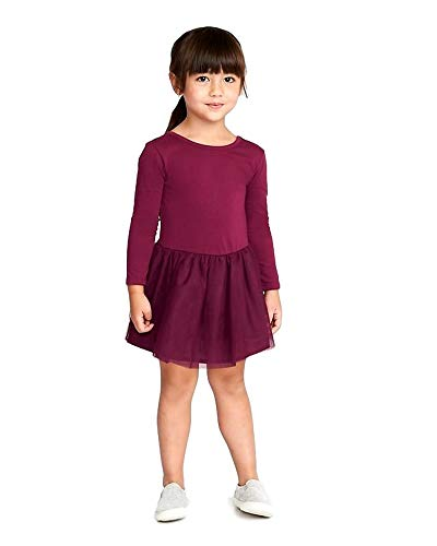 Scoop-Back Tutu Dress for Toddler Girls! (Plum, 3T) -