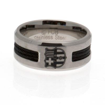 Black Inlay Ring - F.C Barcelona (Small)