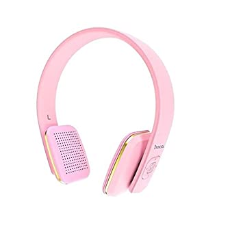 Hoco Premium Bluetooth Auriculares W9 en color rosa para Huawei P20 Pro HF de graves on