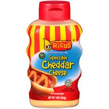Ricos Products Squeezable Cheddar Cheese, 16 Ounce