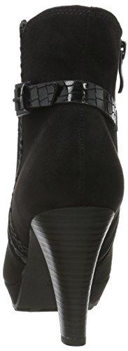 Schwarz Damen Stiefel 098 Tozzi Marco 25400 BLACK Kurzschaft COMB XZ7Wqw