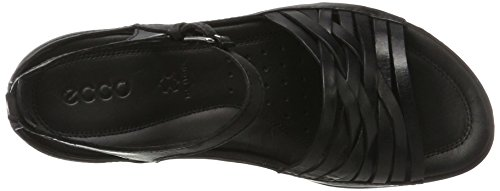 Ecco Donna Womens Flash Lattice Huarache Sandal Nero