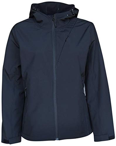 (Pulse Womens Extended Plus Size Soft Shell Hooded Jacket (Solid Black, 5X (30/32)))