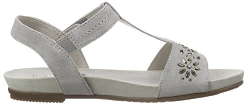 Jana 28112, Women's Open Toe Sandals Grey (Lt. Grey 204)