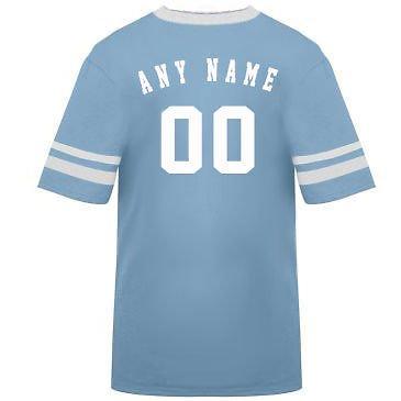 カスタマイズ名前/ Number On Back )ポリ/コットンアスレチックスポーツストライプスリーブジャージー/シャツサッカー、フットボール、カジュアル、学校。。。。21色、子供/大人サイズ8。 B00FL4QIMO XL|Light Blue/White Sleeves Light Blue/White Sleeves XL