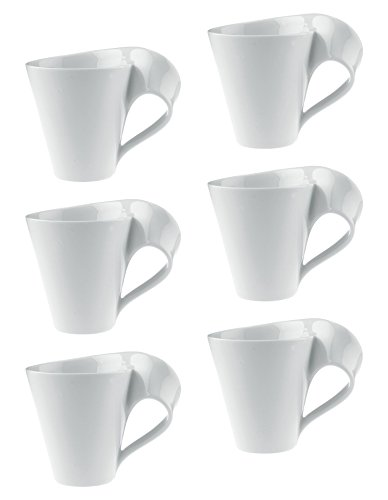 New Wave Caffe Coffee Mug Set of 6 by Villeroy & Boch - Premium Porcelain - Made in Germany - Dishwasher and Microwave Safe - Includes Mugs - 11 Ounce Capacity by Villeroy & Boch (Image #1)