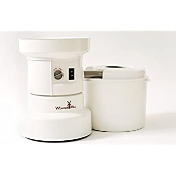 Grain Mill for Home - Simple Kitchen Electric Grinder from WonderMill - Food Mill for Grains and Bean Powder