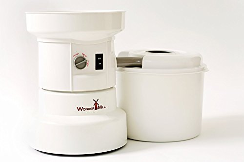 Powerful Electric Grain Mill Wheat Grinder for Home and Professional Use - High Speed Grain Grinder Flour Mill for Healthy Grains and Gluten-Free Flours - Electric Grain Mill by Wondermill,White