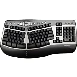 Seal Shield Silver Wave Ergo Waterproof Keyboard SSKSV104