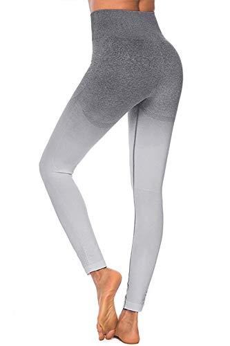 Pau1Hami1ton Vita Alta Gradiente Seamless Leggings Donna Palestra Capri Collant Pantaloni Yoga Ragazze Fitness Leggings Sportivi Allenamento GP-12