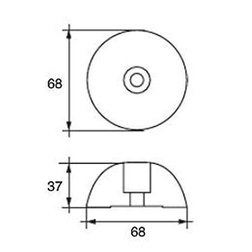 Navyline Zink Propeller Anode rund f/ür Flex o Fold /Ø69,5mm