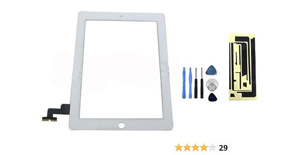 HIPOPAPO Pantalla táctil Touch Screen LCD para Apple IPAD 2 WIFI/3G blanco con herramientas. Kit de reparación cristal roto