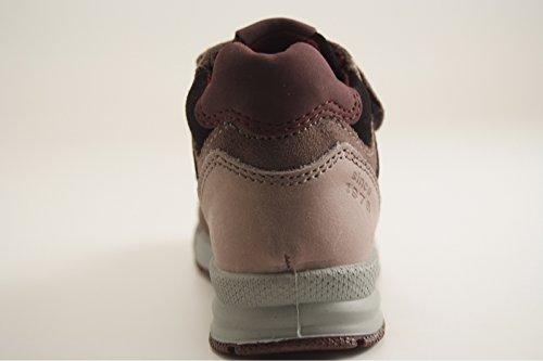 Primigi - Zapatillas de Piel sintética para niño Gris grigio/nero/bordeaux