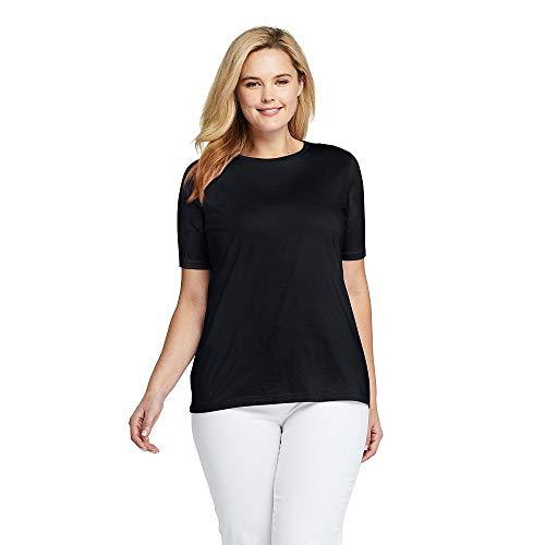 6d2d330d363 Lands  End Women s Plus Size Supima Cotton Short Sleeve T-Shirt - Relaxed  Crewneck