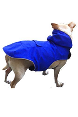 (Ladybird Line Blue Mandi and Marley Moments Lightweight Waterproof Dog Raincoat #110 (M-16))