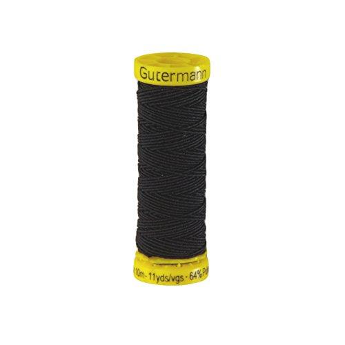 Knitting Thread Elastic (Gutermann Polyester/Polyurethane Elastic Thread 10m/11yds Deep Blue)