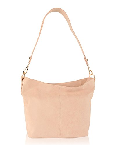 Steve Madden Bsawyer Stud Top Zip Shoulder Hobo Handbag - (Blush Hobo)