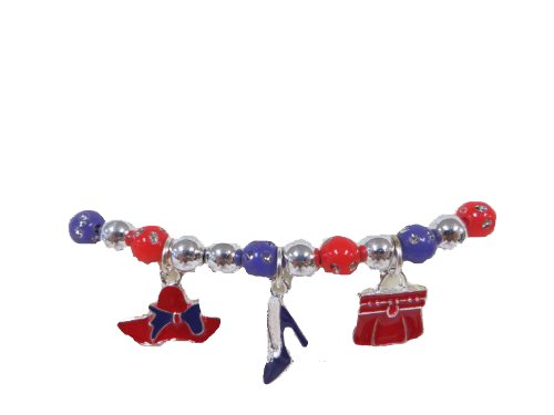 Black Friday / Cyber Monday Deal Stretch Bracelet / Purse Hat & (Red Hat Society Charms)