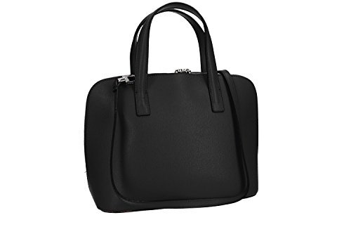 Tasche damen mit schultergurt PIERRE CARDIN schwarz leder Made in Italy VN1678